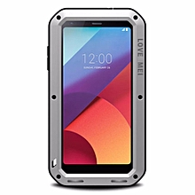 Shock Dirt Proof Water Resistant Metal Armor Aluminum Silicon Cover Phone Case Cover For LG G6 5.7 Inch With Tempered Glass