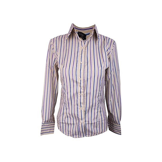 1419cb1d3003 Kivenst Fashion Long Sleeve striped shirt-(yellow