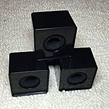 Speaker ABS Mic Microphone Interview Square Cube Logo Flag Station 39mm Hole BK-Black