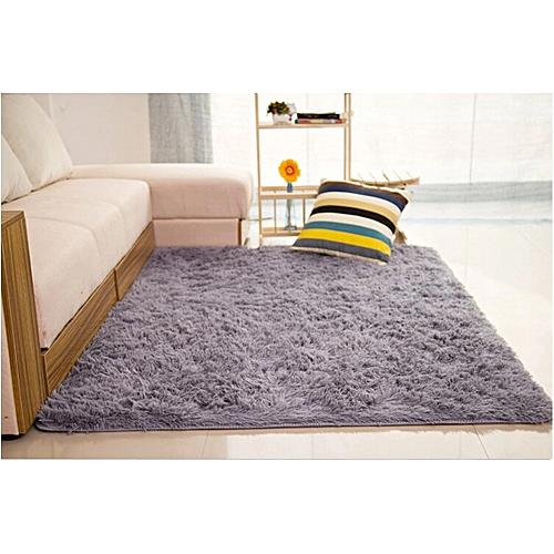 Generic Shaggy Anti-skid Carpets Rugs Floor Mat/Cover 80x120cm (Grey) @ Best Price | Jumia Kenya
