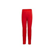 Red Basic Full Length Leggings