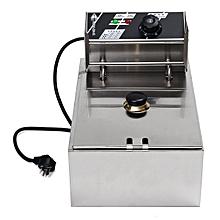 6L 2.5KW Electric Deep Fryer Commercial Home Kitchen Frying Chip Cooker Basket