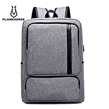 Business Laptop Bag Casual Minimalist Men Backpack - Gray