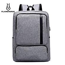 Business Laptop Bag Casual Minimalist Men Backpack - Gray