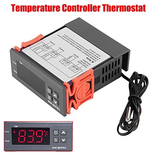 Inkbird ITC-1000 Dual Stage 12V/110V/220V All-Purpose Digital Temperature  Controller Thermostat Sensor 2 Relays 110V IB-0001-XX