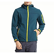 Fleece Jacket Men Soft Shell Winter Windbreaker Windproof Camping Sport Hooded Warm Coat