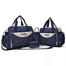 Liberty Powers Generic Navy blue With White Polka Dots 5 In 1 Diaper Bag With Changing mat