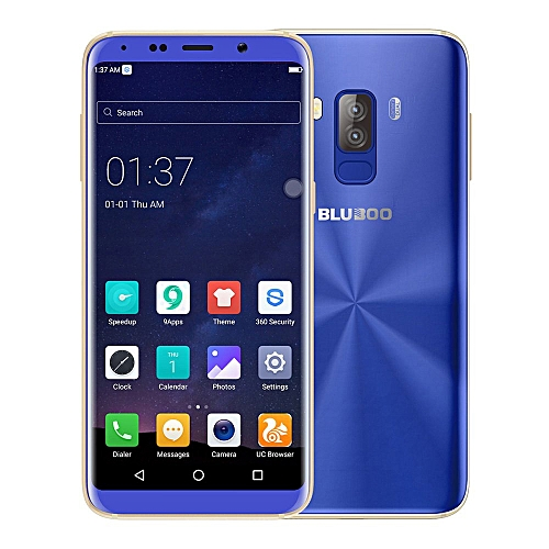 Smartphone 5.7 Inch HD+ Screen 3GB 32GB MTK6750T Octa Core Dual Rear Camera Android 7.0 Touch ID - Blue