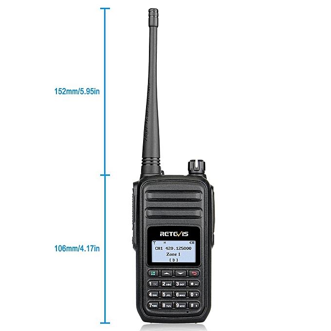 2pcs RT80 DMR Radio Digital Walkie Talkie UHF 400-480MHz 5W Digital Mobile  Radio VOX Alarm Ham Radio Hf Transceiver JULIANA