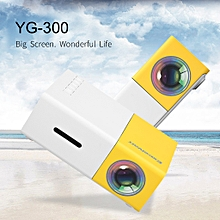 Home Mini Projector YG300 320*240p Support 1080p AV, USB, SD Card, HDMI Interface - Black