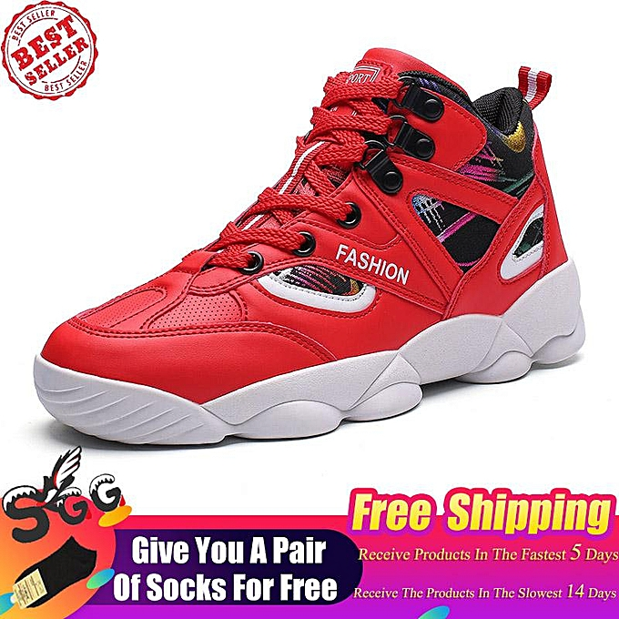 7e3bac23db15 Free Shipping SGG Mens Womens High Top Basketball Shoes Plus Size Lace Up  Cushioning Shockproof Couple