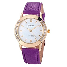 Women Diamond Analog Leather Quartz Wrist Watch Watches Purple