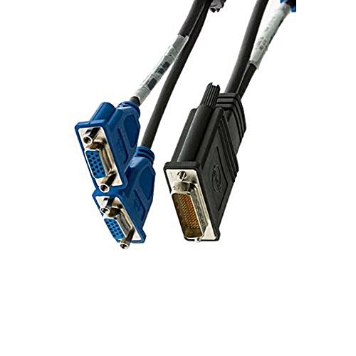 DMS-59 to VGA Splitter For Dual Monitor Setups (G9438) - Black