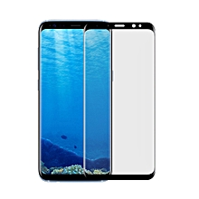 For Galaxy S8 Angibabe 0.1mm PET Curved Electroplate Front Soft Full Screen Protector Film(Black)