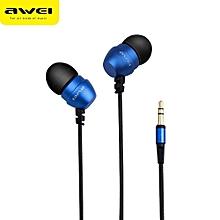 AWEI ES - Q8 3.5MM Plug Stereo Music Deep Bass In-ear Earphones Headphones
