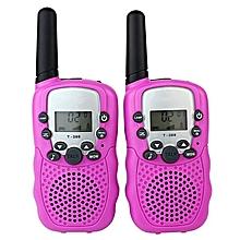 2PCS/Pack T-338 Mini Kids Interphones Portable Hand-held Child Walkie-Talkies-Pink