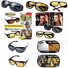 Night Driving Glasses Anti Glare Vision Driver Safety Sunglasses Goggles.-BLACK