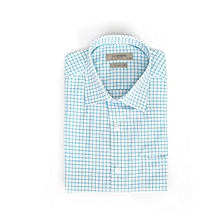 Turquoise Checked Fashionable Regular Shirt
