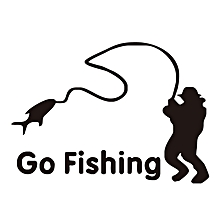 Go Fishing Car Sticker 14x11cm Vinyl Car Window Decal Decals Graphics Sticker Car styling-
