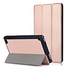 "For Amazon Fire7 2017 Case, Ultra Slim Case + PU Leather Smart Cover Stand Auto Sleep/Wake For 7.0"" Kindle New Fire 7 2017, Rose Gold"