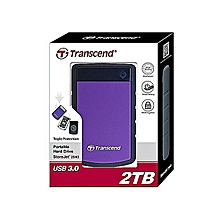 2TB External Hard Drive - Purple