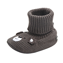 Walker Baby Ankle Boy Girl Baby Soft Bottom Footwear Wool Shoes Baby Shoes GY/11-Gray