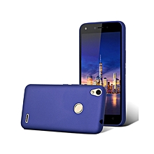 Techno WX4 Back Cover - Silicone Rubber Finish Blue