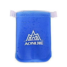 AONIJIE 170ML Sports Soft Water Bag Exercise Running Folding Cup Kettle - Blue