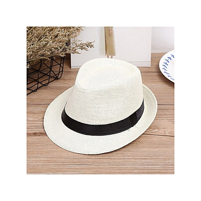 ... Braveayong Children Kids Summer Beach Sun Hat Jazz Panama Trilby Fedora  Hat Gangster Cap -Multicolor 3c821fdaae18
