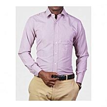 Purple Checked Mens Long Sleeved Shirts