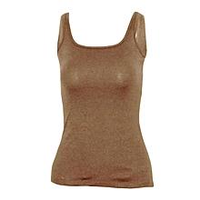 Women Mink Brown Stretch Camisole Vest
