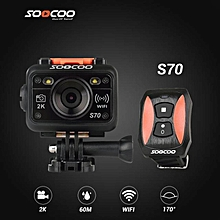SOOCOO S70 Sport Action Camera 2K 1080p 60M Waterproof Built-in 2GB, WIFI with Watch Remote Control WWD