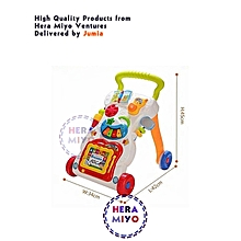 Multicolour Sit-to-Stand Learning Musical Push and Play Baby Walker