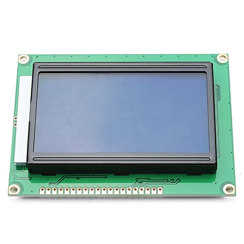 3Pcs 12864 128 x 64 Graphic Symbol Font LCD Display Module Blue Backlight  For Arduino