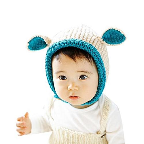 Generic jiuhap store Knitted rabbit ears ear cap Baby Cartoon Hats Baby  Hats Hat Winter Autumn BG-Beige 941dcd3ce4a