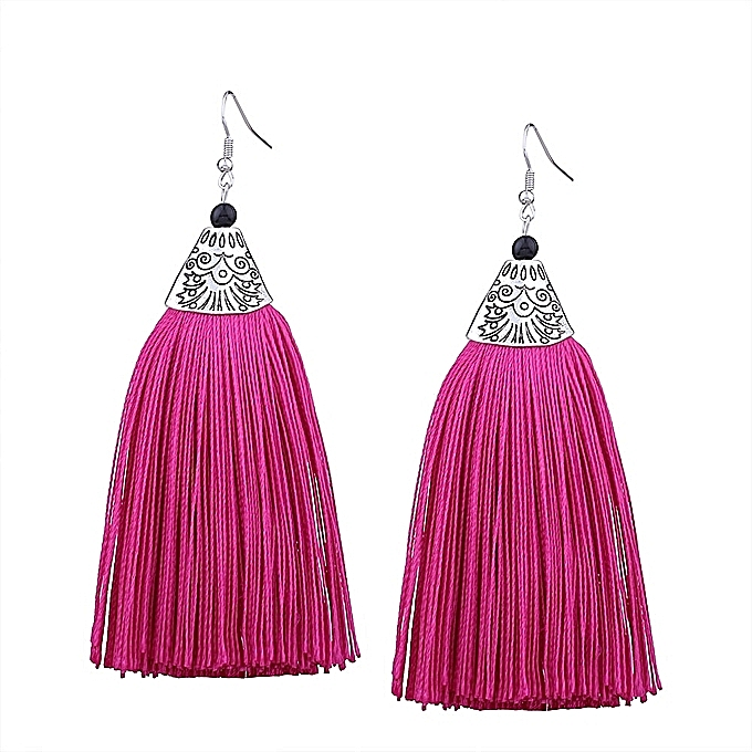 Tel Earrings Fuschia