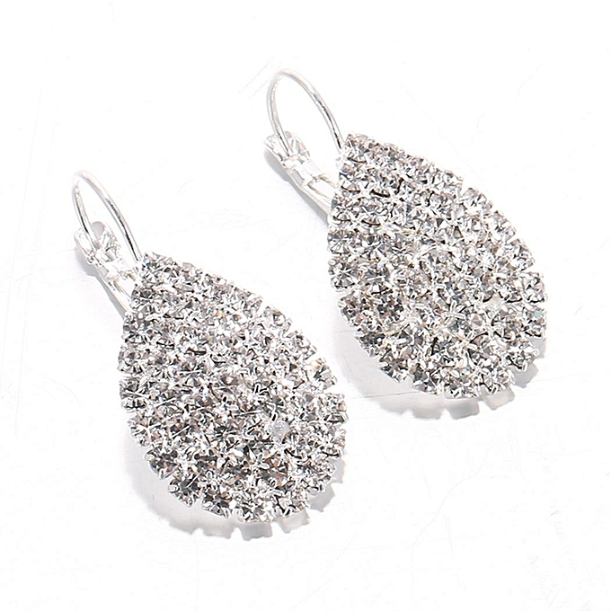 New Women Fashion Earrings Jewelry Trendy Artificial Diamond Charm Wedding Gift