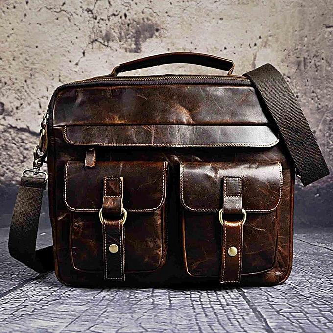 b0dcc6de6684 Men Quality Leather Antique Travel Business Briefcase 13