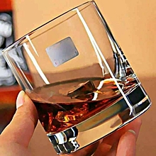 Whisky Round shaped Glasses - 6 Glasses - Clear