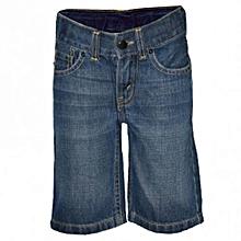 Blue Stone Denim Shorts