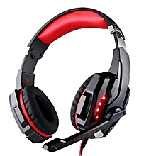 3.5mm Gaming Headset With Microphone - Red