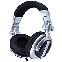 ST-80 Professional Monitor Music Headset HiFi Subwoofer Enhanced Super Bass Noise-Isolating DJ Headphone(SILVER AND BLACK)