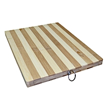 Wooden Bamboo Chopping Board Stripped 32 x 22 cm - Brown