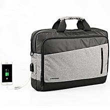 KINGSONS 13.3/15.6 inches Men Nylon External USB Charging Handbag Shoulder Bag Laptop Bag