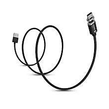 WSKEN Magnetic Charge Cable Mini 2 Single Head for Android Phone LED Lighting black