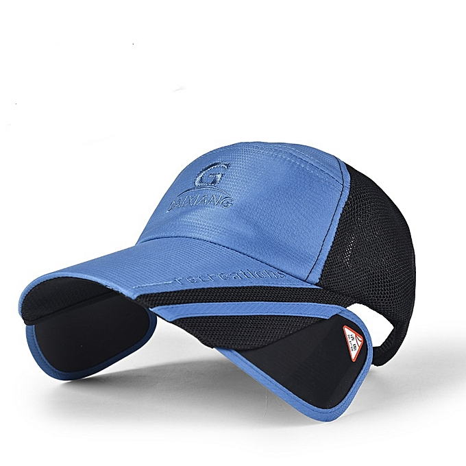 Unisex Men Women Polyester Mesh Wide Brim Baseball Cap Adjustable  Breathable Outdoor Hat 2398022d9398
