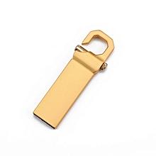 High Speed Anti-Shock Rotatable U Disk Waterproof USB Flash Drive With Hook silver