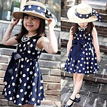 Kids Children Clothing Polka Dot Girl Chiffon Sundress Dress BU/XXL