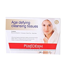 Age defying Cleansing Tissues - 30 pre-moistened tissues - 30g