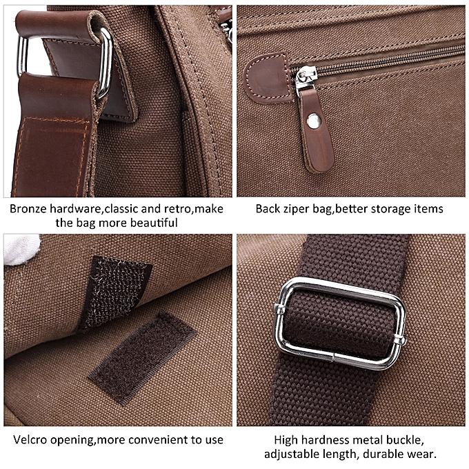 4fbd3805cb3b ... Beauty Men Canvas Shoulder Bags Large Capacity Casual Messenger Bags ...